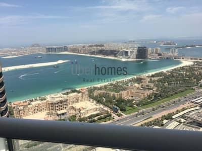 3 Bedroom Apartment for Rent in Dubai Marina, Dubai - High floor 3 bed apt with full sea views