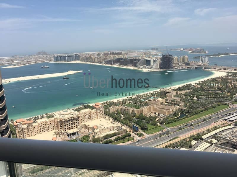 High floor 3 bed apt with full sea views