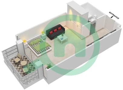 المخططات الطابقية لتصميم النموذج / الوحدة T03/6-8 شقة  - ريتز ريزيدنس