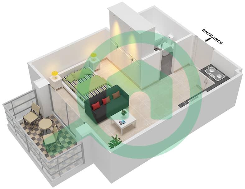المخططات الطابقية لتصميم النموذج / الوحدة T02 / 2-4,10-12 شقة  - ريتز ريزيدنس image3D