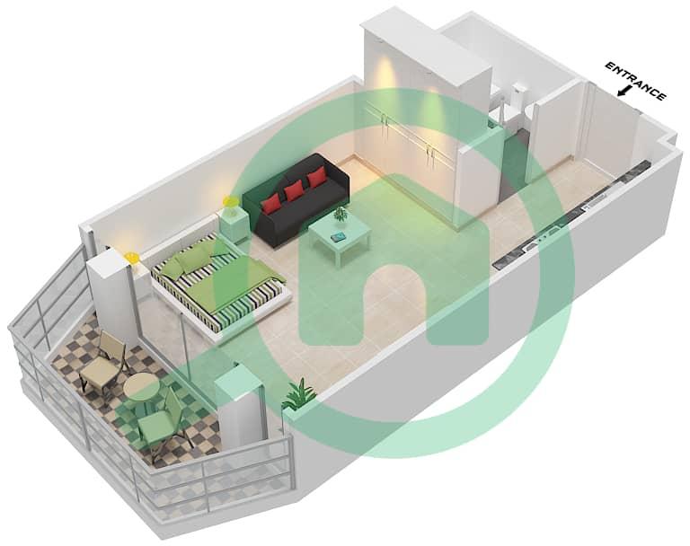 المخططات الطابقية لتصميم النموذج / الوحدة F03/6-8 شقة  - ريتز ريزيدنس image3D
