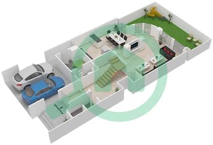 المخططات الطابقية لتصميم النموذج A1 فیلا 4 غرف نوم - قرية خالدية