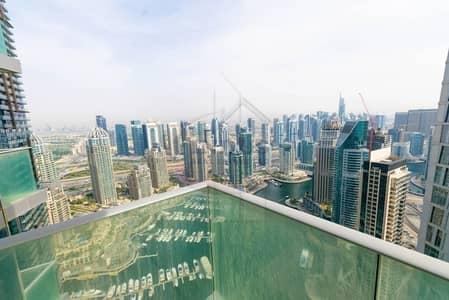 شقة 3 غرفة نوم للايجار في دبي مارينا، دبي - On High Floor | Biggest 3BR Fendi | Marina View