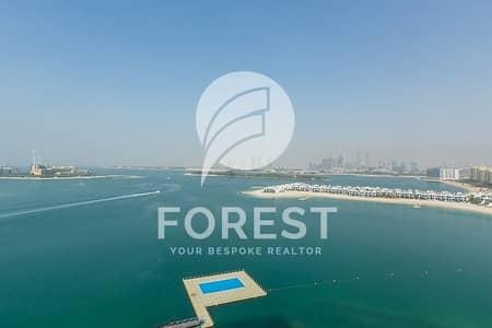 فلیٹ 3 غرفة نوم للايجار في نخلة جميرا، دبي - Full Sea View | High Floor | Furnished | 3BR+Study