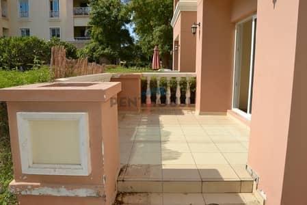 فلیٹ 1 غرفة نوم للايجار في جرين كوميونيتي، دبي - Courtyard 1 bed facing the garden & pool