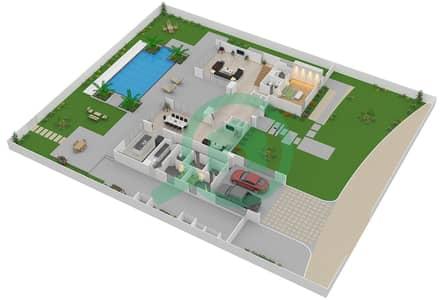 The Nest - 4 Bedroom Villa Type A1-L Floor plan