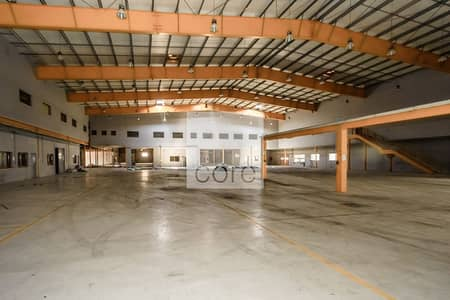 Warehouse for Rent in Mussafah, Abu Dhabi - Spacious Warehouse | Ground plus Mezzanine