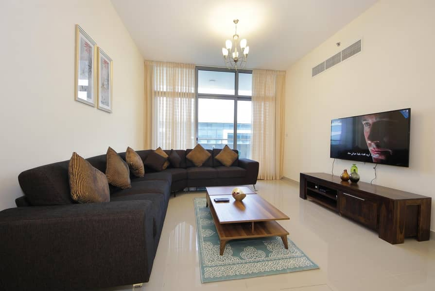 Divine 2 Bedrooms wt Maid room at Al Barsha Fresh Furnished