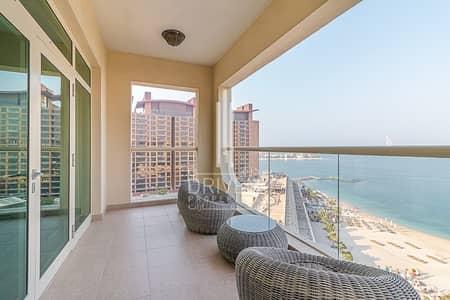 شقة 2 غرفة نوم للايجار في نخلة جميرا، دبي - Sea View | Furnished Apt with 1Month Free