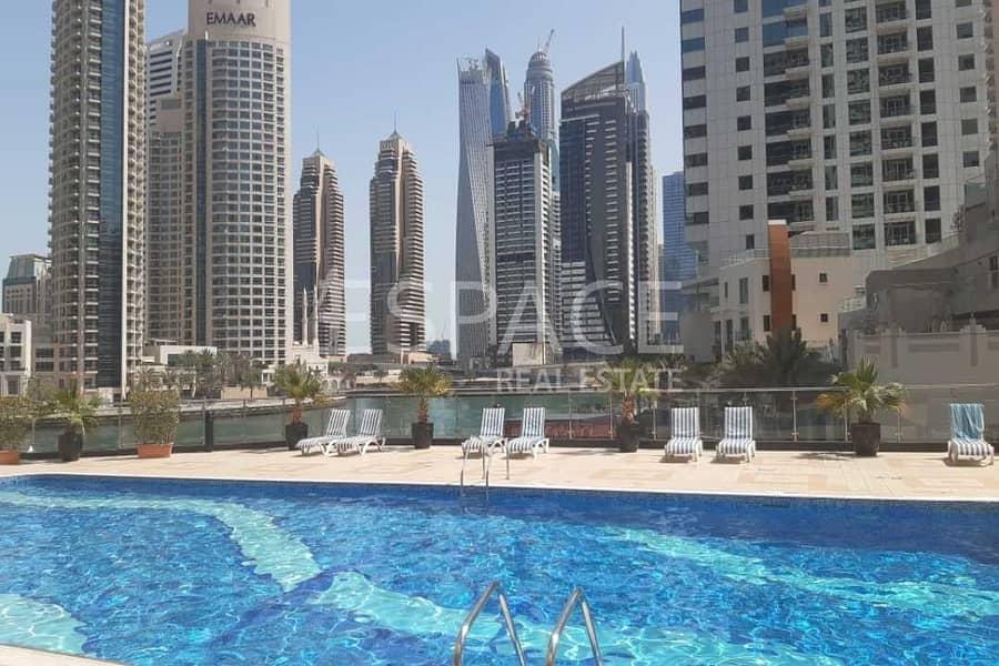 10 Balcony | Furnished | Marina View Tower