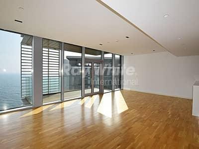 شقة 2 غرفة نوم للبيع في جزيرة بلوواترز، دبي - Well Lit 2 BR+Maid w/ Panoramic Sea View