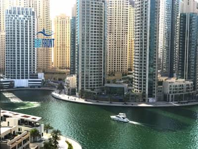 شقة 1 غرفة نوم للايجار في دبي مارينا، دبي - Marina Views   Balcony   Close to Metro   4 Chqs