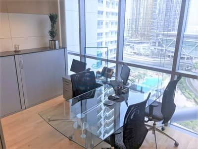 Office for Rent in Jumeirah Lake Towers (JLT), Dubai - Fully Furnished Floor ready for Rent near Metro Station