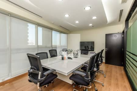 Office for Rent in Jumeirah Lake Towers (JLT), Dubai - Fitted Office with Partitions | Low Floor