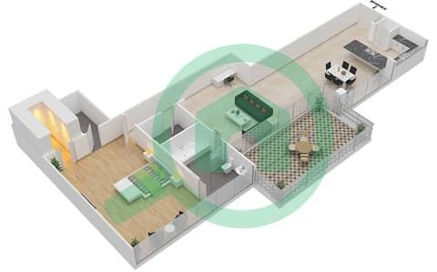 Seventh Heaven - 1 Bedroom Apartment Type 2 VERSION 1 Floor plan