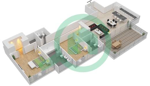 Seventh Heaven - 2 Bedroom Apartment Type 2 VERSION 1 Floor plan