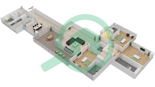 Seventh Heaven - 3 Bedroom Apartment Type 1 VERSION 1 Floor plan