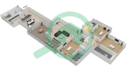 Seventh Heaven - 3 Bedroom Apartment Type 2 VERSION 1 Floor plan