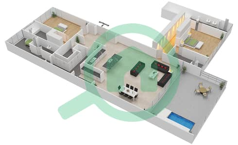 Seventh Heaven - 2 Bedroom Apartment Type 1B VERSION 1 Floor plan