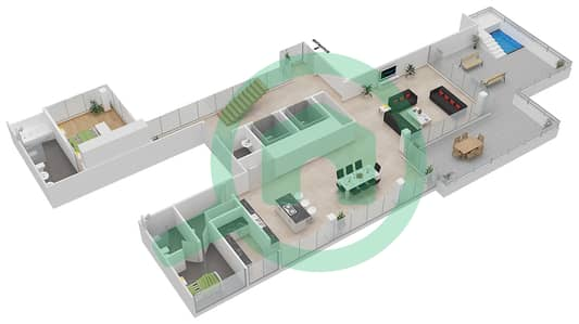 Seventh Heaven - 3 Bedroom Apartment Type 2A DUPLEX VERSION 1 Floor plan
