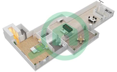 Seventh Heaven - 1 Bedroom Apartment Type 1 VERSION 2 Floor plan
