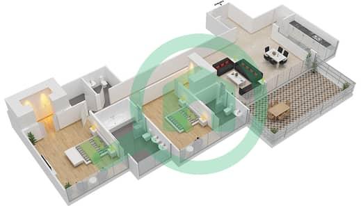 Seventh Heaven - 2 Bedroom Apartment Type 1 VERSION 2 Floor plan
