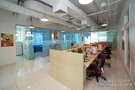 مکتب  للايجار في الخليج التجاري، دبي - Fully Fitted| Furnished| 11 Parking Spaces