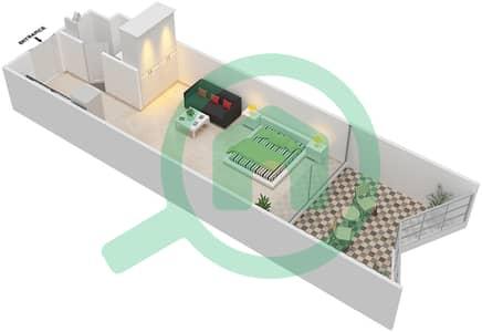 Binghatti Stars - Studio Apartments type A Floor plan