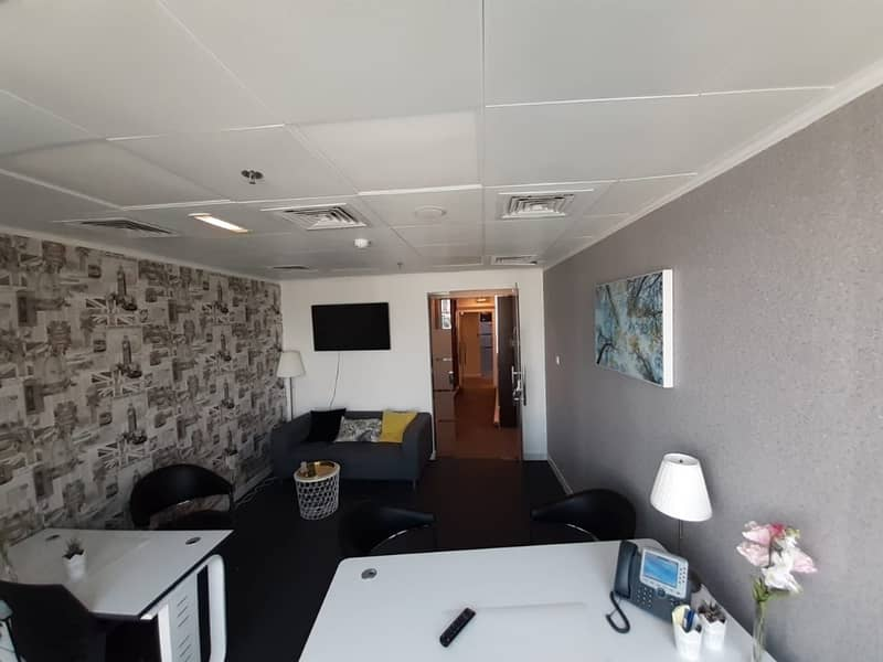 200 SQFT Fully Furnished all inclusive office space- No Commission