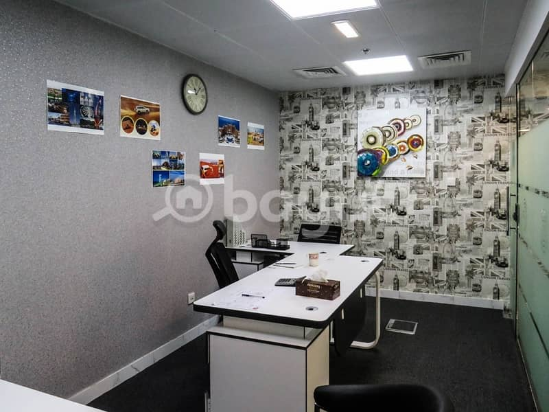 Fully fitted offices direct from landlord with Burk khalifa & Lake views.