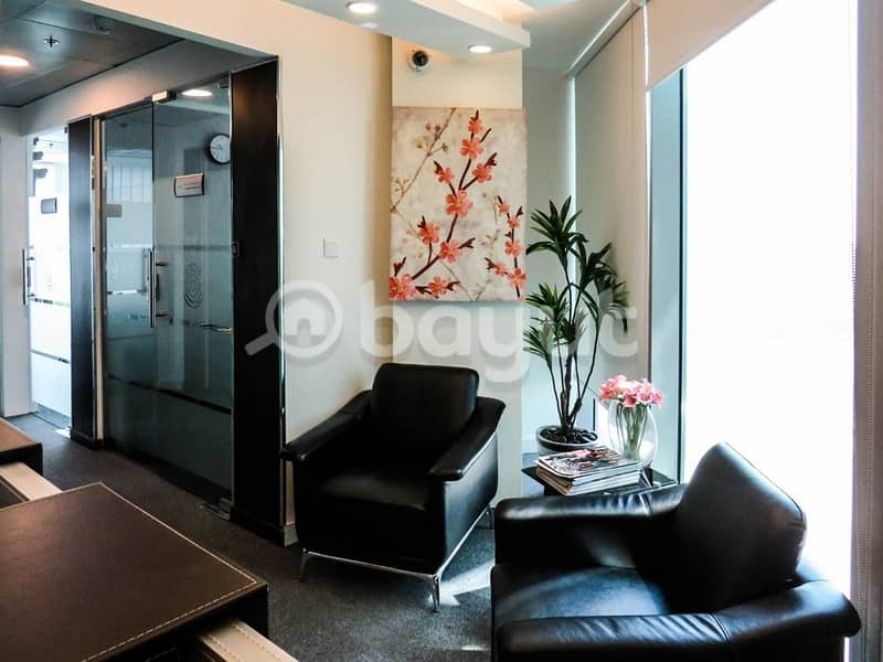 12 cheques payment- Fully furnished office space in Binary Tower- Business Bay.
