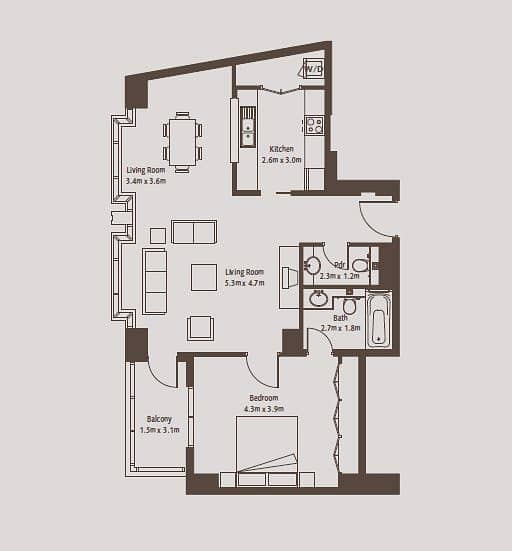 10 Vacant One Bed | 985 Sq Ft | Community View