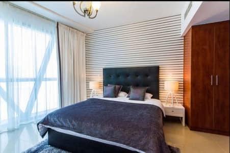 شقة 1 غرفة نوم للايجار في مركز دبي المالي العالمي، دبي - fully furnished one bedroom with beautiful view