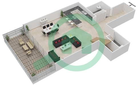 Seventh Heaven - 1 Bedroom Apartment Type 1 DUPLEX VERSION 1 Floor plan
