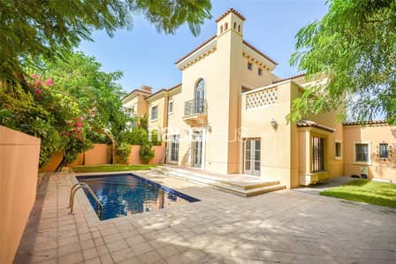 4 Bedroom Villa for Rent in Jumeirah Golf Estate, Dubai - Doral | Vacant | Rectangular Pool | 4 Bed