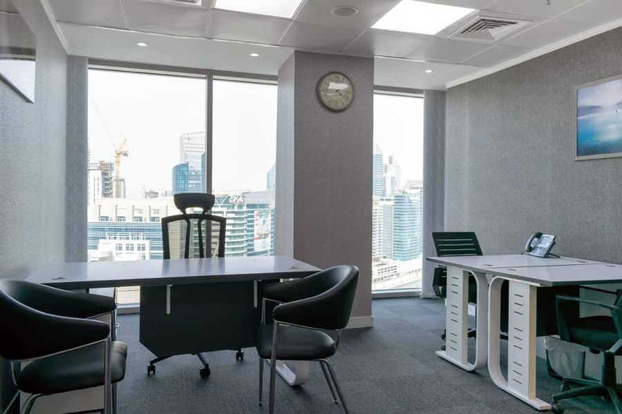2 Brand new never used executive offices with dewa & parking -NO COMMISSION!