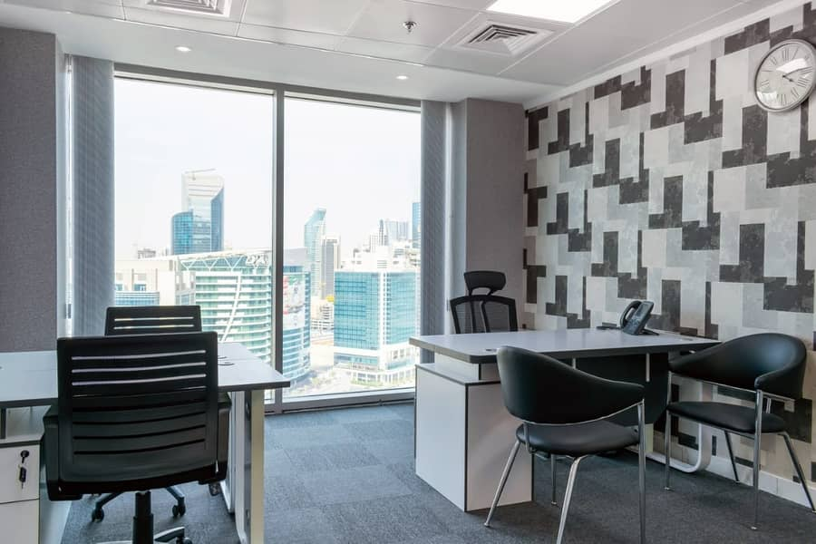 Brand new never used executive offices with dewa & parking -NO COMMISSION!