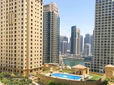 فلیٹ 1 غرفة نوم للايجار في جي بي ار، دبي - Partial Marina View | Unfurnished | Low Floor