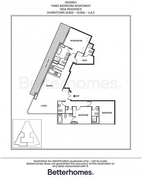 16 3 Bedroom | Sky Collection | Vida Residence