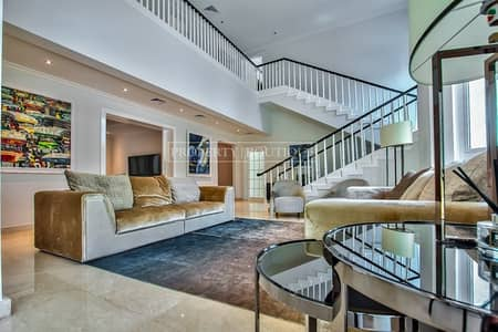4 Bedroom Villa for Sale in Jumeirah Islands, Dubai - Exclusive: Upgraded Garden Hall   4 Bed+Study+Maid
