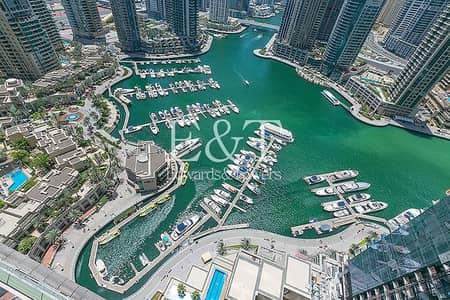 شقة 1 غرفة نوم للبيع في دبي مارينا، دبي - Rare Deal | Marina Facing | High Floor