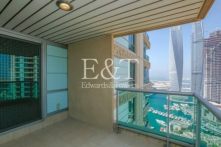 3 Bedroom Flat for Sale in Dubai Marina, Dubai - High floor with Marina/ Golf course view