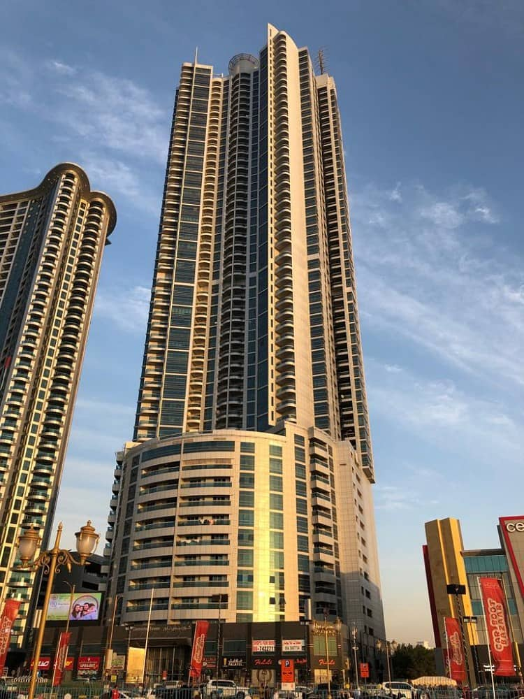 Hot Deal!! 2 Bedroom Hall (vacant) + maid's room w/ panoramic city view in Corniche Tower Ajman