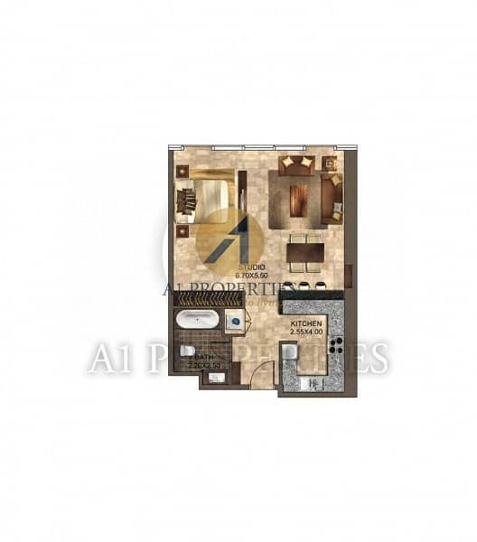 13 Cozy Bright Studio Apartment with SZR View