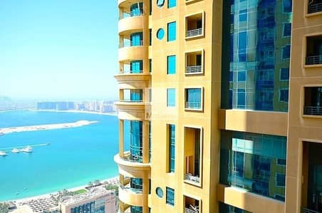 2 Bedroom Flat for Rent in Dubai Marina, Dubai - Fully Furnished   High Floor   Partial Sea View