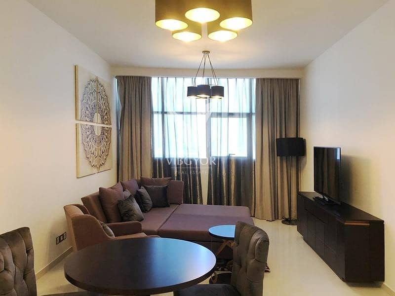 Furnished and Vacant 1BR- 4 Cheques- High Floor-JVC