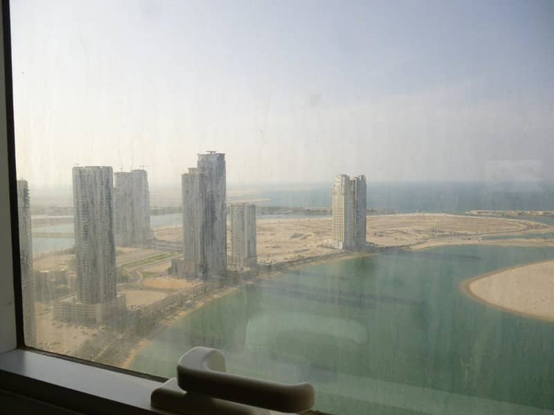 Panoramic lake view for 3 plus maid in Al Waha Residence