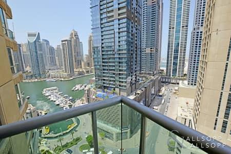 2 Bedroom Flat for Rent in Dubai Marina, Dubai - Furnished | 2 Bedroom | Great Marina View