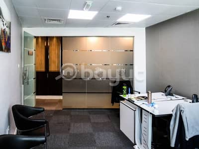 مکتب  للايجار في الخليج التجاري، دبي - Executive furnished office space with Dewa and Parking- NO COMMISSION!