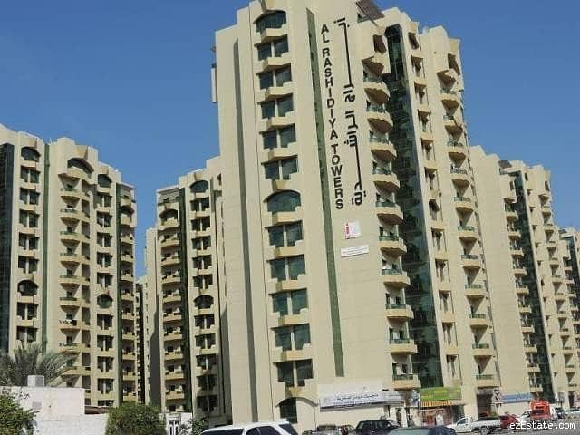 GOOD PRICE . . . . . . . . AVAILABLE 2 BEDROOM FLAT FOR SALE IN  AL RASHIDIYA TOWER